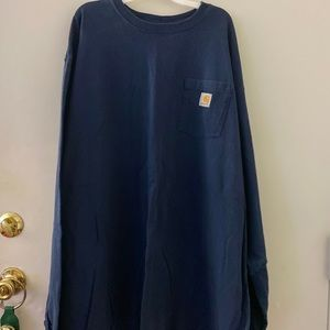 Men's 3XL Navy Blue Long Sleeve Carhartt shirt